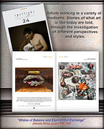 """La revista SPOTLIGHT 24, en donde están publicadas las obras de Ramón Rivas / Spain), tituladas """"Caprichos del Equilibrio"""" e """"Intercambio Experiencial"""""""