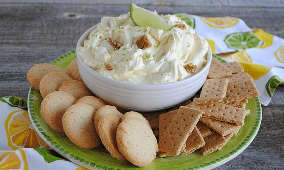 KEY LIME PIE DIP #dessert #cakes #dip #cookies #lemon
