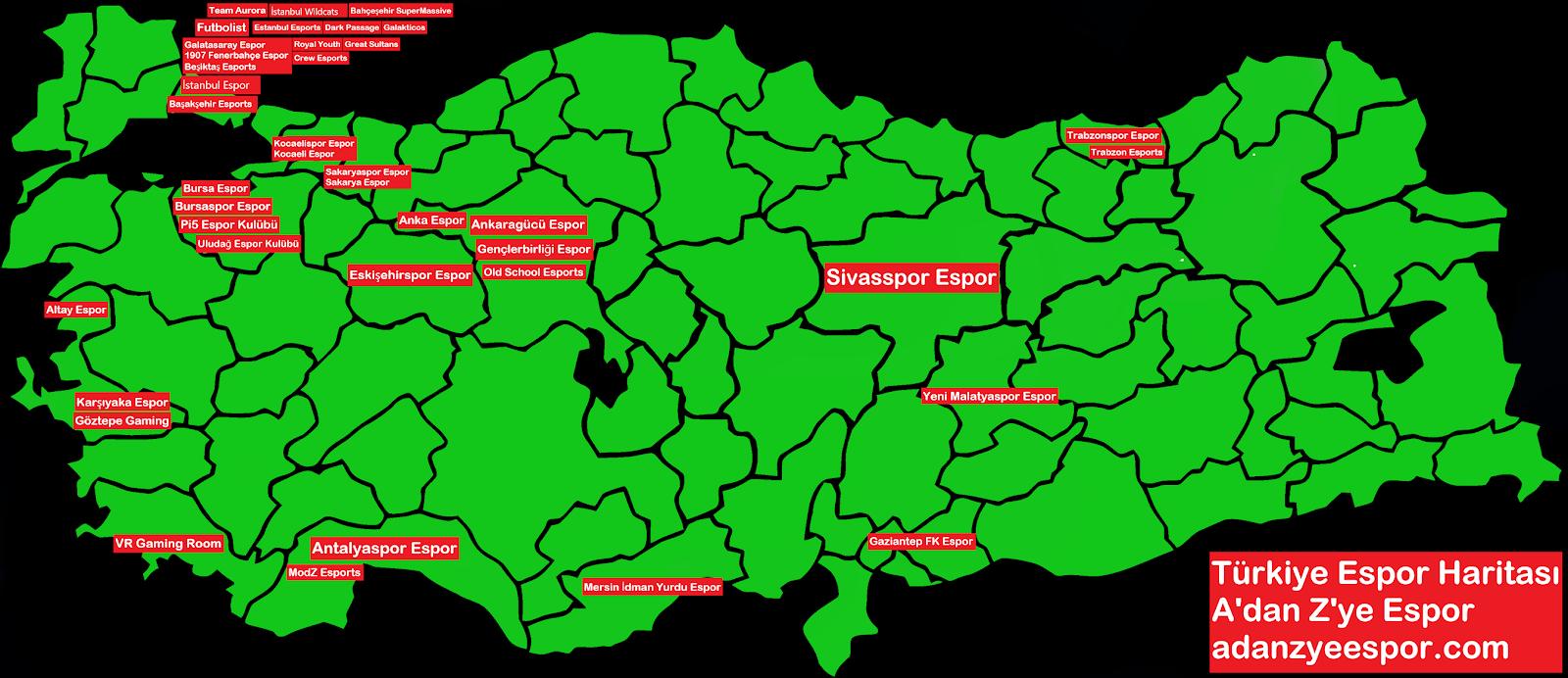 Türkiye Espor Haritası2