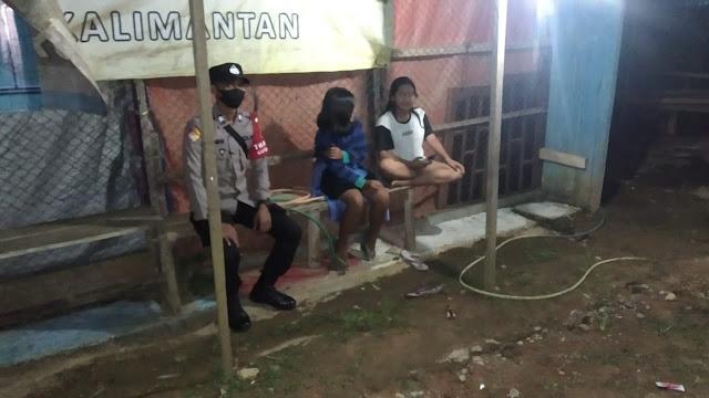 Pantau Kamtibmas, Personil Polsek Delang laksanakan Patroli malam