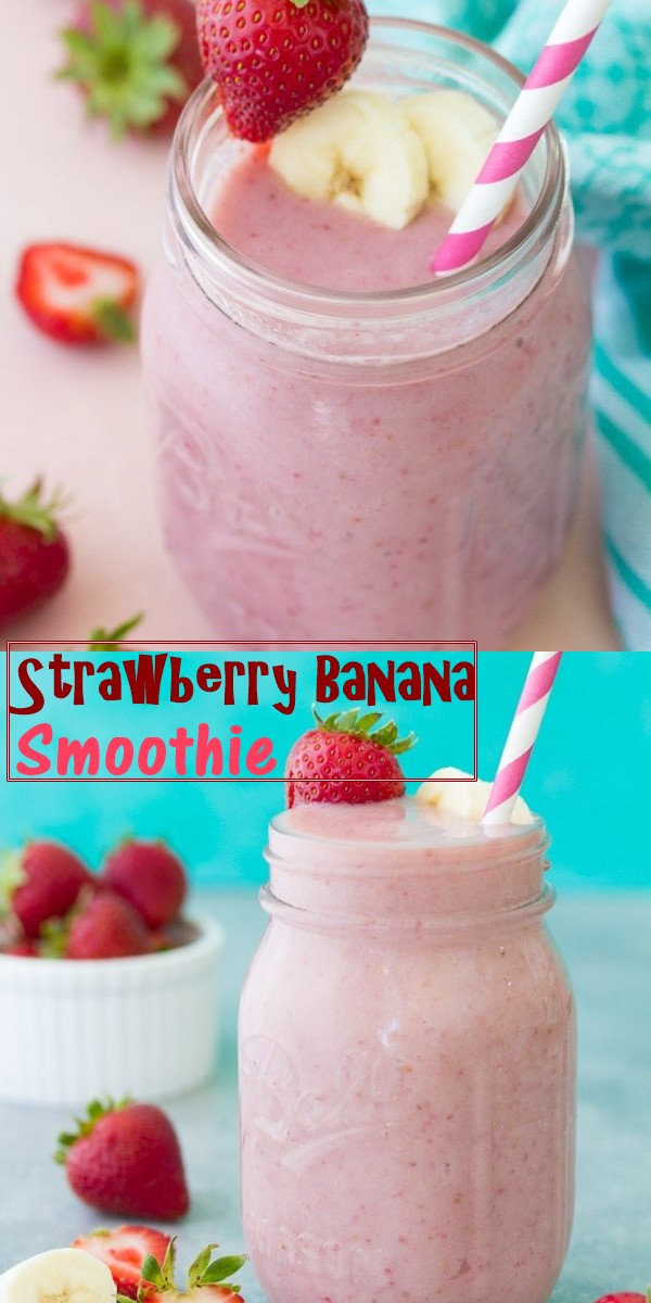 Strawberry Banana Smoothie #smoothiesrecipes
