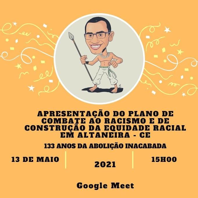 Professor Nicolau Neto apresentará plano de combate ao racismo e de promoção da equidade em Altaneira