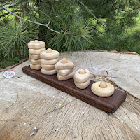 Wooden Stacking block, 5 shapes (PY32)