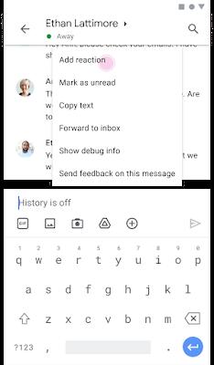 Imagen de la selección de emojis en un teléfono Android que muestra la opción de Agregar reacción