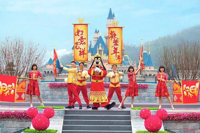 香港迪士尼樂園度假區, Hong Kong Disneyland Resort. 2019年 新春慶祝活動, Chinese New Year Celebration, Disney, HKDL,  Pig, Goofy