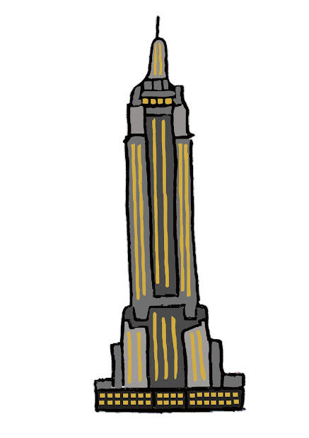 Empire State Building Cartoon Drawing