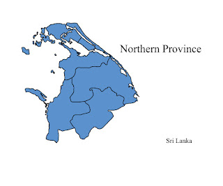 free download vector editable svg map of northern province sri lanka