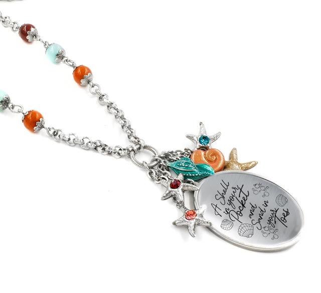 sea shell starfish necklace