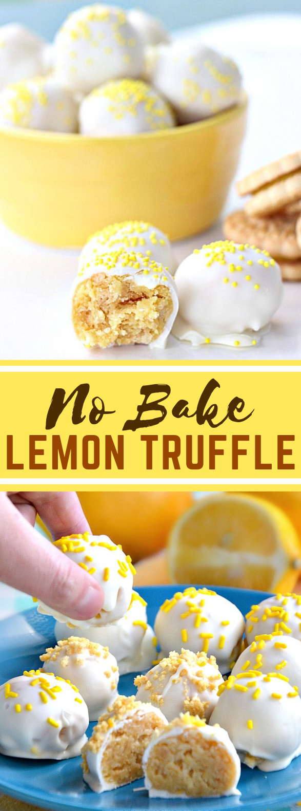 NO BAKE LEMON TRUFFLE RECIPE #desserts #summer