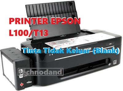 Printer Epson L100 dan T13 hasil print [blank] tidak mencetak