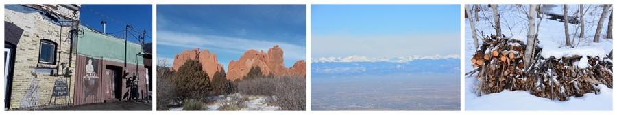 Neige, ville typique et parc au Colorado
