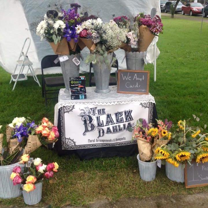 The Black Dahlia - My flower booth!
