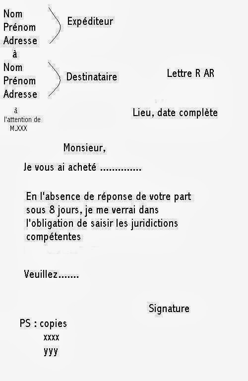 redaction courrier