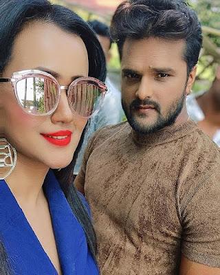gunjan pant and khesari lal yadav