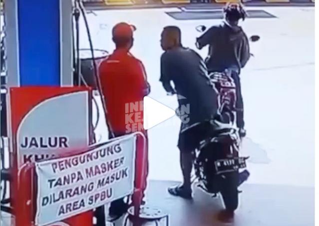 Tak Punya Akhlaq! Pria di Semarang Ludahi Wajah Petugas SPBU karena Ditegur Tak Pakai Masker