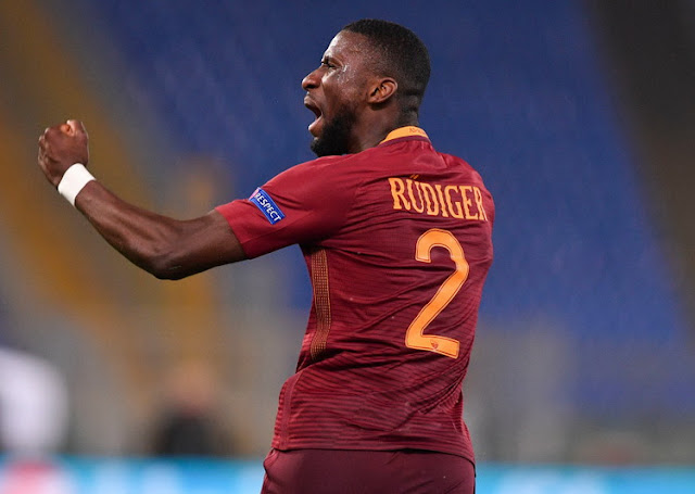 Antonio Rudiger Pemain AS Roma