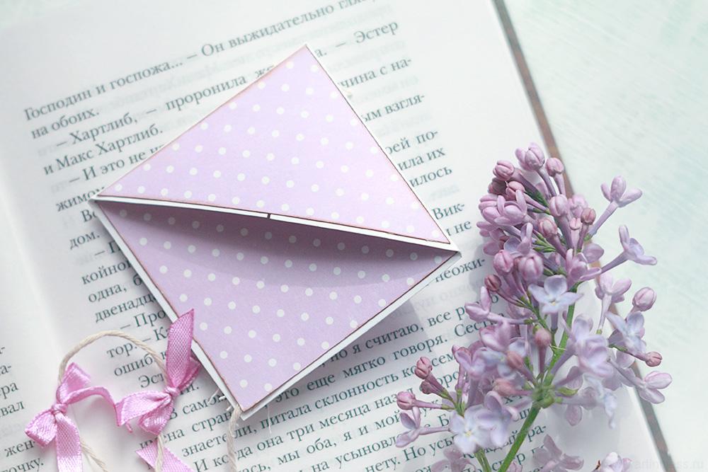 Скрапбукинг закладка для книг, Scrapbook bookmark