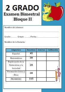 Examen Segundo grado Bloque 2 – 2016-2017