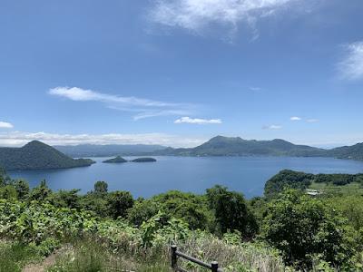 サイロ展望台から見える洞爺湖