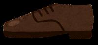 横から見た靴のイラスト(革靴)