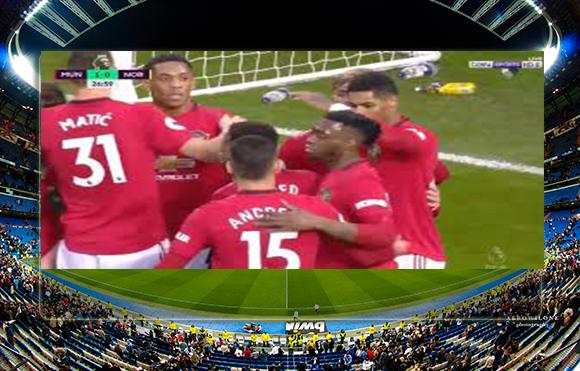 اهداف مباراة مانشستر يونايتد ونوريتش سيتي (4-0) الدوري الانجليزي