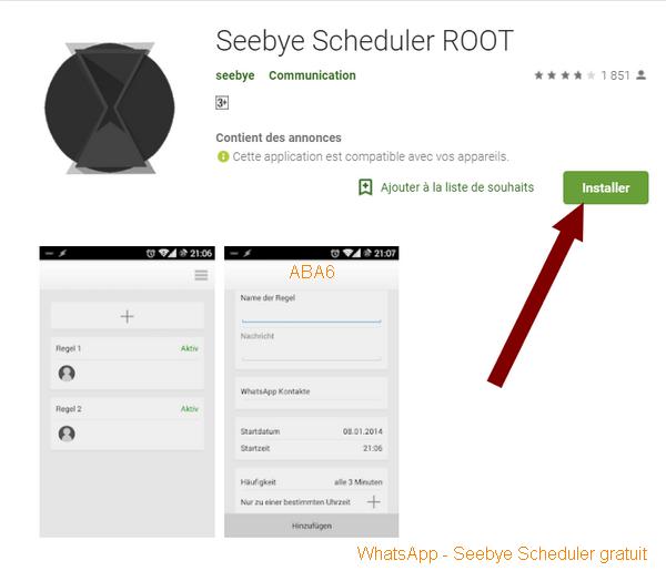 كيفية جدولة رسائل الواتساب WhatsApp - Seebye Scheduler gratuit