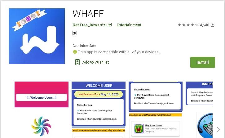 Aplikasi Whaff Reward