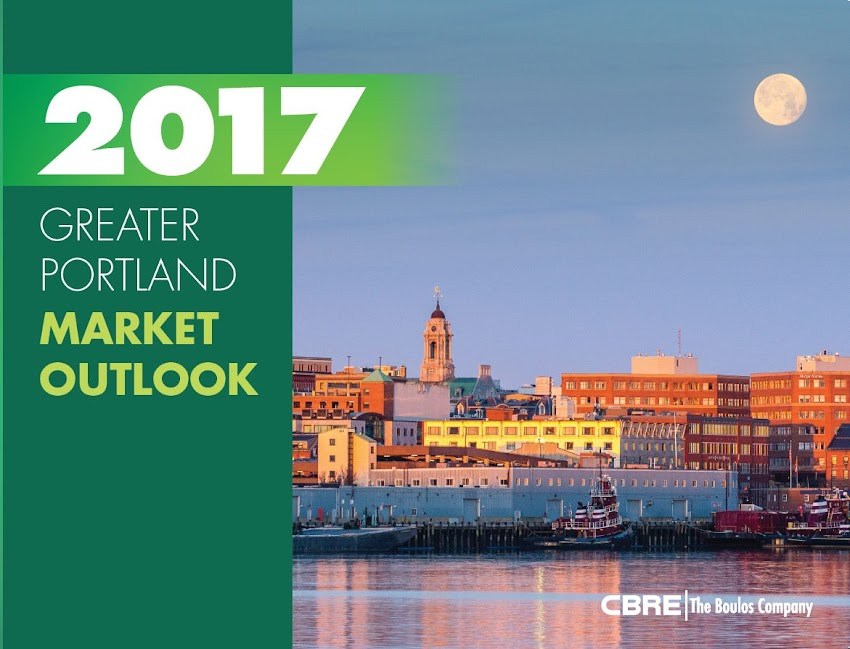 Portland, Maine USA January 2017 CBRE | The Boulos Company  2017 Market Outlook for Greater Portland's commercial real estate market. Cover photo by Corey Templeton.