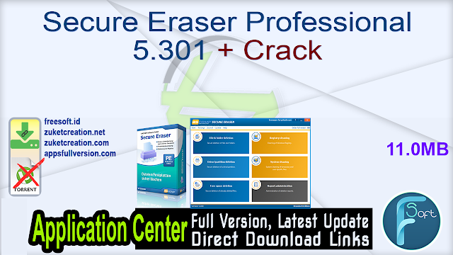 Secure Eraser Professional 5.301 + Crack