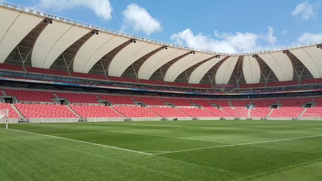 Nelson Mandela Bay Stadium Field Pitch Bowl Inside View
