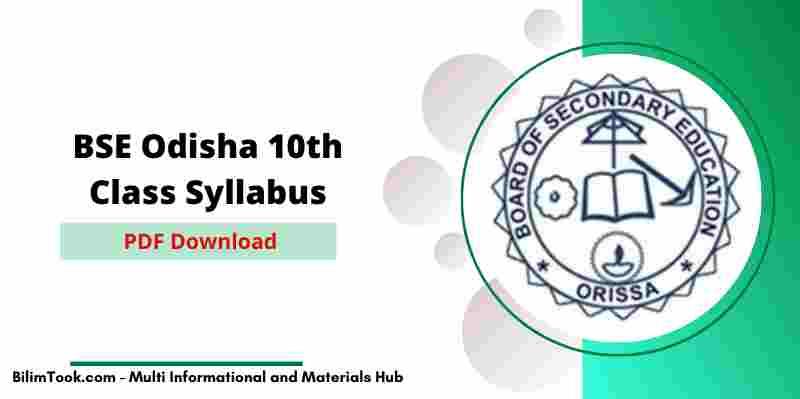 BSE Odisha 10th Class New Syllabus 2020-21 PDF Download