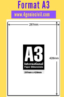 Format de papier A3