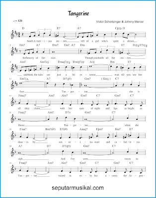 Tangerine 1 chords jazz standar