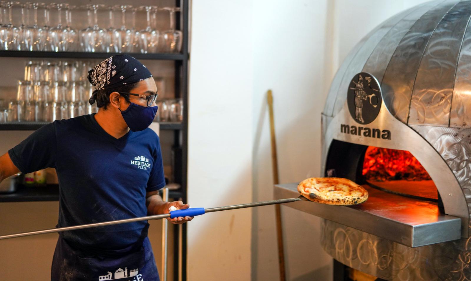 heritage pizza, jalan doraisamy