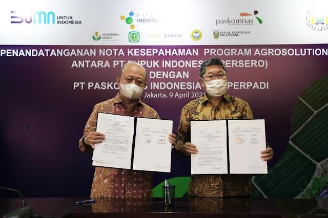 Dukung Agro Solution, Pupuk Indonesia Teken MoU dengan Perpadi dan Paskomnas