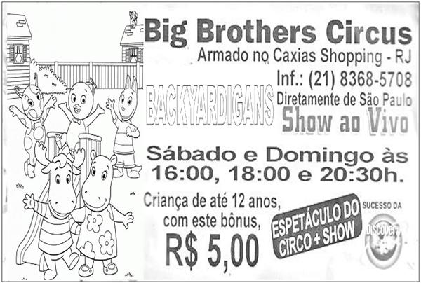 Atividade Texto Propaganda Big Brothers Circus; PDF Grátis