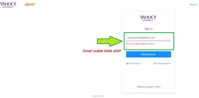 TEs email yahoo bisa login atau tidak di yahoomail.