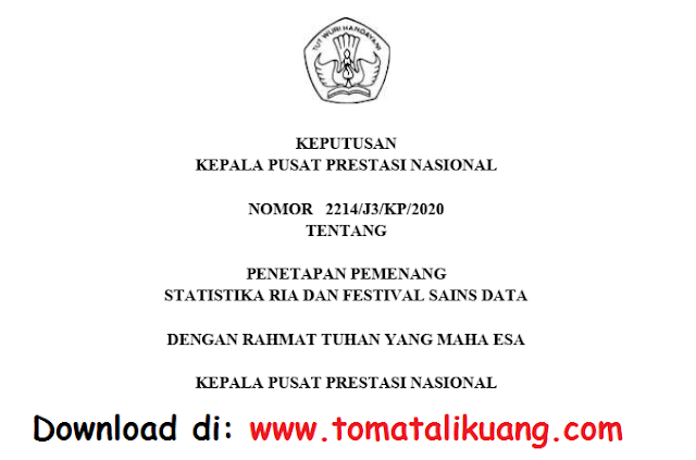 sk pemenang satria data tahun 2020 pdf tomatalikuang.com