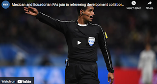 Mexican and Ecuadorian refereeing development by fifa