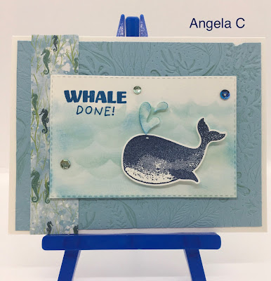Stampin' Up!, Whale Of A Time, www.stampingwithsusan.com, Whale Done, Seabed 3D Embossing Folder,