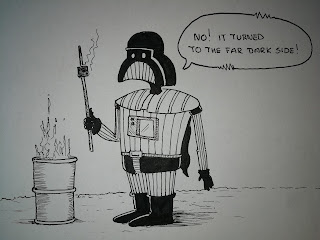 The Far Dark Side - Darth Vader having a BBQ