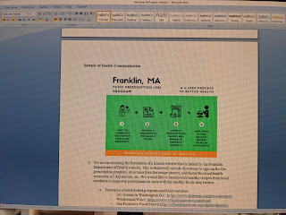 screen grab of process for prescription for health diet