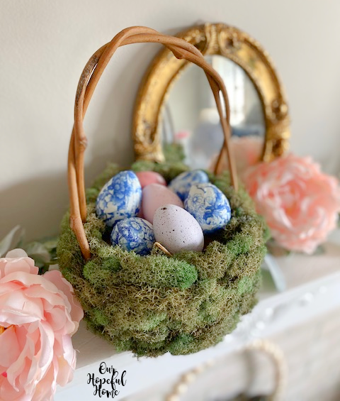 shabby chic Easter decor