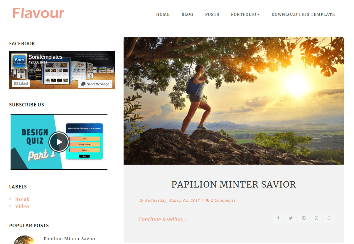 How To Setup Flavour Blogger Template