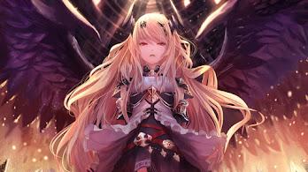 Fantasy, Anime, Girl, Wings, 4K, #6.1019