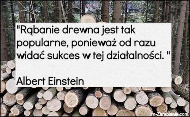 Albert Einstein, cytaty o sukcesie, bogactwie, pieniądzach i finansach.