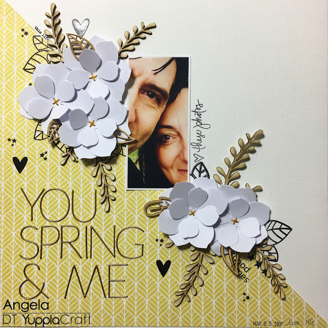 You Spring And Me Scrapbook Layout by Angela Tombari for YupplaCraft DT