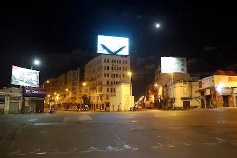 أخبار المغرب: الدار البيضاء في ليلة بوناني .. مدينة أشباح وفيروس كورونا المستجد corona virus كوفيد19 covid19 يطارد العربدة
