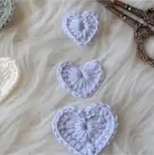 Aplique Corazón a Crochet