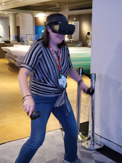 Picture of me while playing the VR demo.